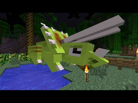 Minecraft Dinosaurs Part 105 Acrocanthosaurus and MC Dino Livestream