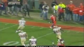 Clemson vs FSU McDaniel on Ponder Collision after interception