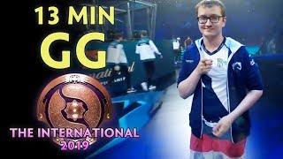 13 min GG on The International 2019 — Matumbaman new team Chaos