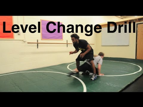 Level Change Shooting Drill, Good Warm Up Drill: Basic Wrestling Moves and Technique For Beginners Image 1