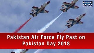 Pakistan Air Force Fly Past on Pakistan Day 2018