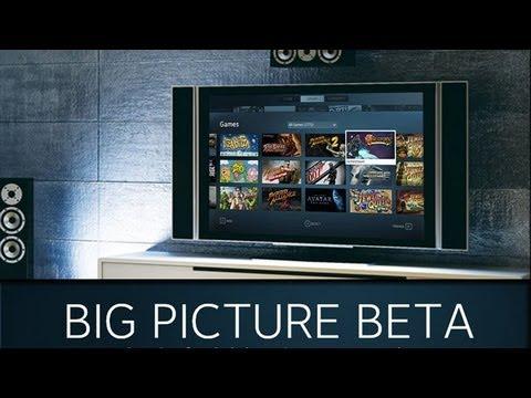 Steam big picture Beta. jugar en el salón de tu casa.