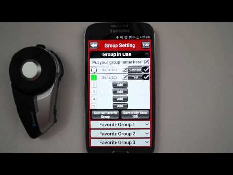 Sena 20S How To Video (Sena Smartphone App)