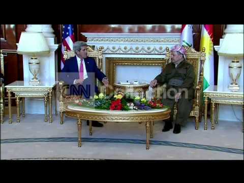 IRAQ: KERRY MEETS WITH BARZANI
