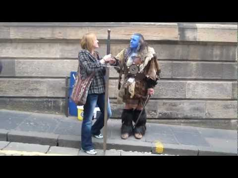 William Wallace on the streets of Edinburgh