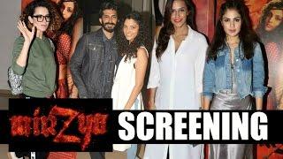 Mirzya Full Movie Screening - Harshvardhan Kapoor, Saiyami Kher, Kangana Ranaut & Elli Avram