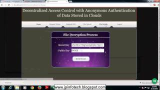 Decentralized Access Control with Anonymous Authentication of Data Stored in Clouds in java