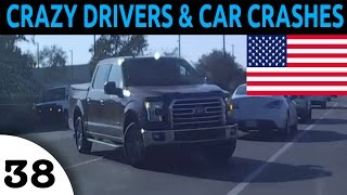 Crazy Drivers & Car Crash Compilation in USA Episode 38