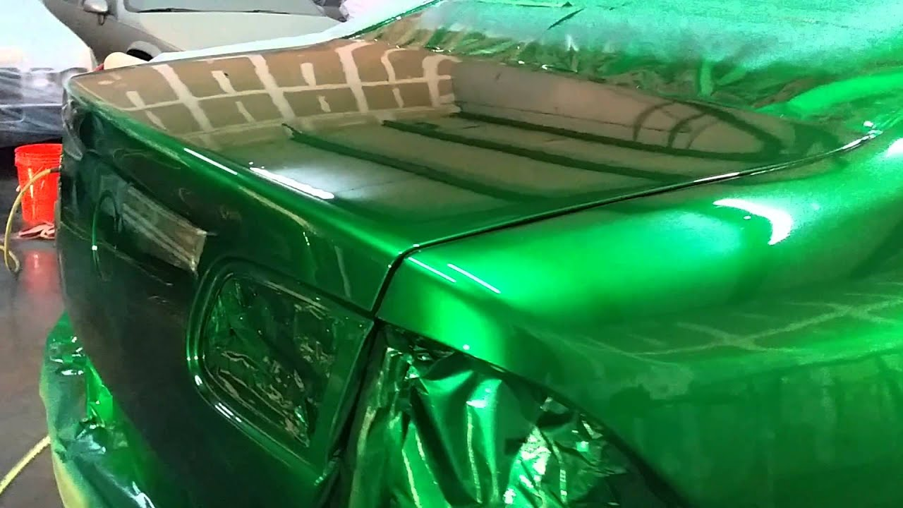 Green Flake Paint