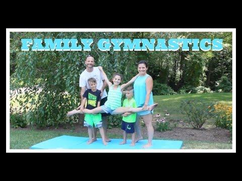 Family Gymnastics Challenge | Simply Liv