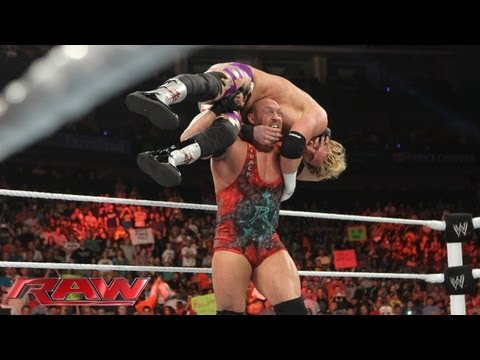 Ryback attacks Zack Ryder, moments after Long Island Iced Z's match against Cody Rhodes: Raw, May 20