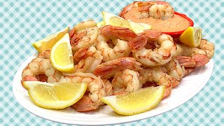 HOW TO MAKE PERFECTLY BOILED SHRIMP!!