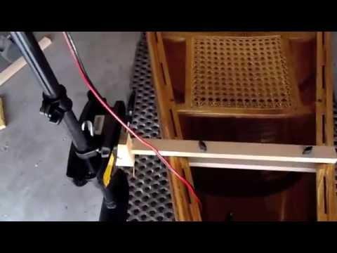 Electric trolling motor DIY mount for a 17.5 BWCA Cruiser Canoe