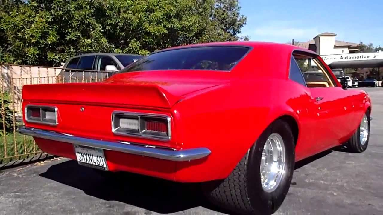 1968 Chevrolet Camaro Pro Street Youtube