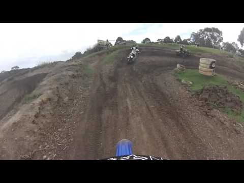Nunawading and District Motocross track yz125 helmet cam