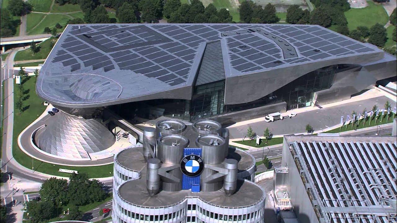 Bmw Museum Munich >> BMW Tower / Headquarters with the BMW Welt, BMW Museum. - YouTube