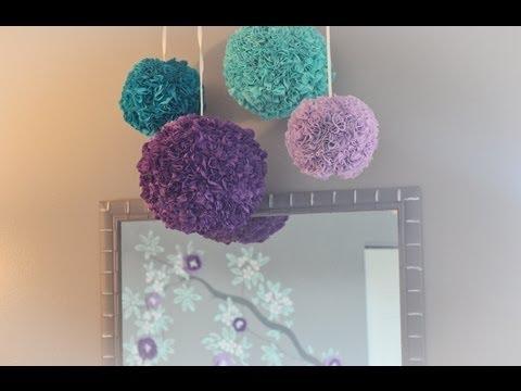 Tutorial: Fabric Pom Poms video