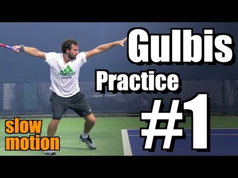Ernests Gulbis in Super Slow Motion | Forehand and Serve #1 | Western & Southern Open 2014