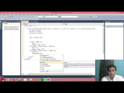 Visual Basic 2010 Ejercicio con TextBox y Button Calculo de Descuento