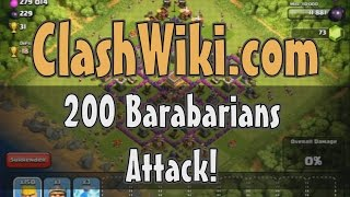 200 Barbarian Attacks Clash Of Clans