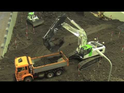 RC Construction Machines building a road Part 1