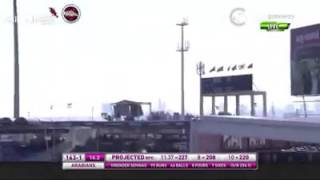 SEHWAG brings up his 100 with a HUGE Six|| 134 of 63 balls