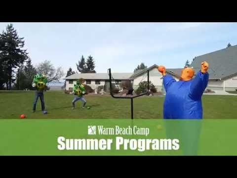 Warm Beach Camp Youth Summer Camp activity - giant slingshot