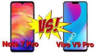 🔥🔥Redmi Note 7 Pro vs Vivo V9 Pro - Camera,Battery, Performance,Price Comparison