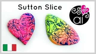 Sutton Slice | Polymer Clay Tutorial | DIY Cabochon | Textures di Lisa Pavelka