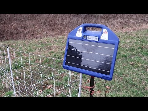 Premier One Electric Netting Fence and Charger Setup For Goats - 8K Volts!