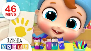 Finger Family Song with Colors +More Nursery Rhymes by Little Angel