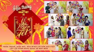 Trấn Thành, Diệu Nhi, Hòa Minzy và dàn sao Việt lầy lội dành nhau quay số may mắn