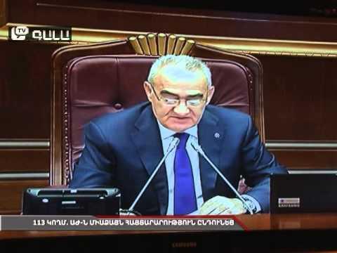 113 կողմ. ԱԺ-ն միաձայն հայտարարություն ընդունեց