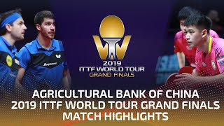 Timo Boll/Patrick F. vs Lin Yun-Ju/Liao C.T.  2019 ITTF World Tour Grand Finals Highlights (1/2)