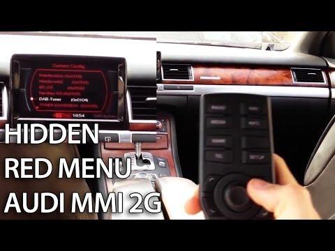 Audi MMI 2G hidden red menu description - mr-fix info