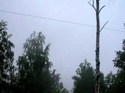 Гроза в Перми 6 июня 2011 г.  - первая часть