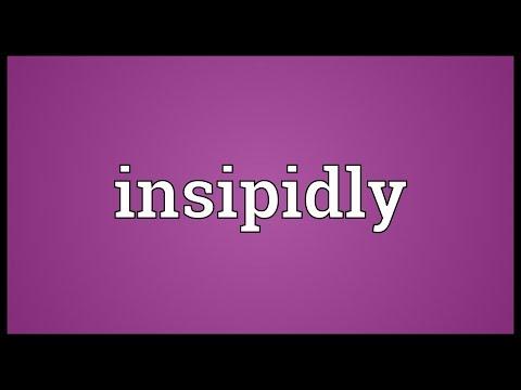 Header of insipidly