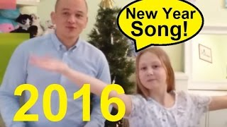 New Year Song + Lyrics by Student & English teacher | Happy New Year greetings 2016