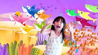 Colors and Numbers lessons with baby Shark Fishing Games and Surprise Toys.