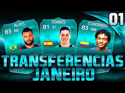 FIFA 15 UT - TRANSFERENCIAS DE JANEIRO PT#01 - DANI ALVES, TORRES, CUADRADO  - CROCODILLOGAMES