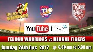 CCL T10 Blast Match I Telugu Warriors VS Bengal Tigers I Dec 24th