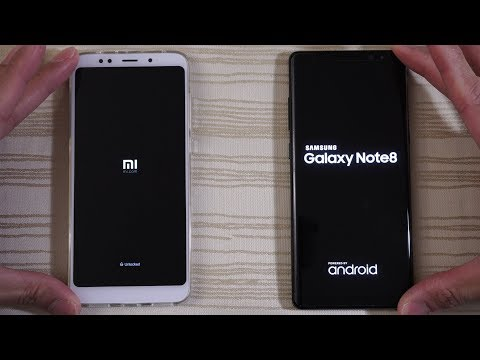 Xiaomi Redmi 5 Plus vs Galaxy Note 8 - Speed Test!