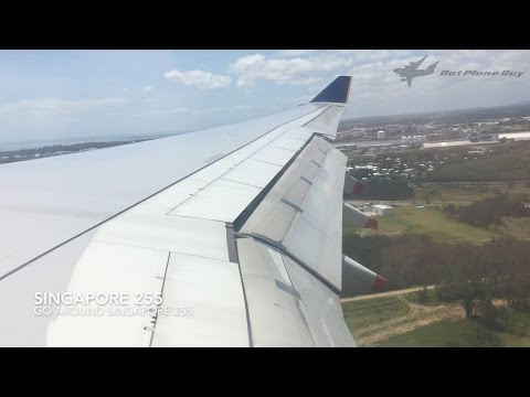 GO AROUND with ATC Singapore Airlines A330 Landing at Brisbane Airport