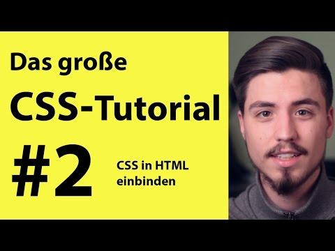 CSS in HTML einbinden | Grundkurs für anfänger #2 deutsch