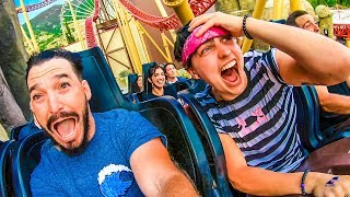 TAKING OVER AN AMUSEMENT PARK!! w/ Sam, Colby, Corey & Andrea