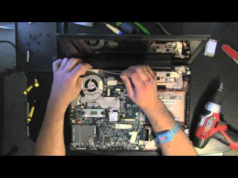 TOSHIBA A205 laptop take apart video. disassemble disassembly