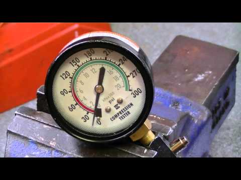 Husqvarna 154 Chainsaw Compression Test After Sanding Cylinder