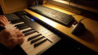Alesis VI25 MIDI keyboard test ~ zynaddsubfx ~ jack / space sounds