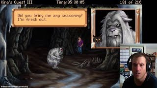 King's Quest III: To Heir Is Human - Walkthrough - Defeat The Yeti - The Director's Cut