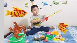 Bộ Đồ Chơi Câu Cá Cho Bé ❤ Fishing Game Toys For Kids Review ❤ BoBo Kids TV ❤